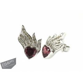 Strieborné náušnice zdobené prírodnými kameňmi ENLIGHTENED™ - Swarovski Elements.