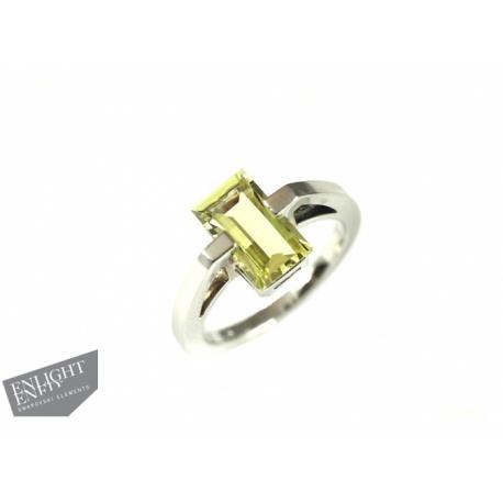 Strieborný prsteň zdobený prírodnými kameňmi ENLIGHTENED™ - Swarovski Elements.