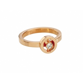 Zeades prsteň ATTALE z ušľachtilej ocele s krištáľom veľkosť 50