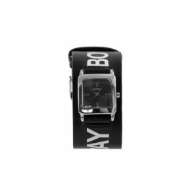 Playboy hodinky s obdĺžnikovým kovovým púzdrom s koženým remienkom. Remienok je zdobený nápisom a zajačikom Playboy.
