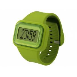Rainbow GREEN o.d.m.  hodinky so silikonovým náramkom veľmi príjemným na dotyk.