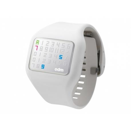ILLUMI White o.d.m.  hodinky so silikonovým náramkom veľmi príjemným na dotyk s LED diodovým ciferníkom.