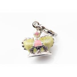Zinzi strieborný prívesok s karabínkou - korunka s možnosťou uchytenia na náhrdelník alebo na náramok.