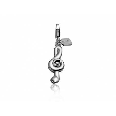 Zinzi strieborný prívesok s karabínkou-husľový kľúč, s možnosťou uchytenia na náhrdelník alebo na náramok.