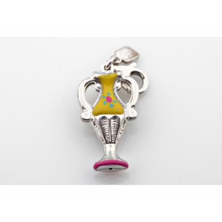 Zinzi strieborný prívesok s karabínkou-váza, s možnosťou uchytenia na náhrdelník alebo na náramok.