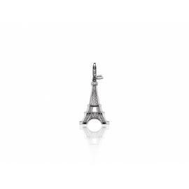 Zinzi strieborný prívesok s karabínkou-Eiffelova veža, s možnosťou uchytenia na náhrdelník alebo na náramok.
