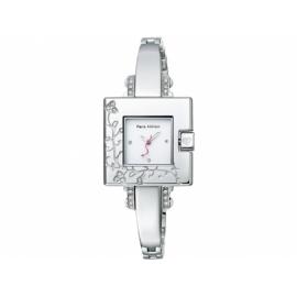 Paris Hilton hodinky so štvorcovým ciferníkom s kovovým remienkom.