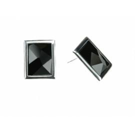 X Strieborné náušnice so Swarovski Elements krištáľmi.