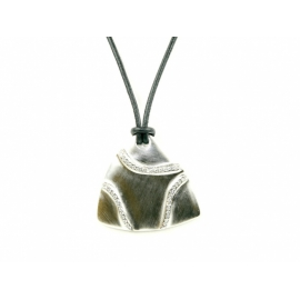 X Kožený náhrdelník so Swarovski Elements krištáľmi v porhodiovanom špeciálnom zlatníckom kove.