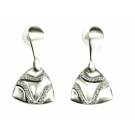 Náušnice so Swarovski Elements krištáľmi v porhodiovanom špeciálnom zlatníckom kove.